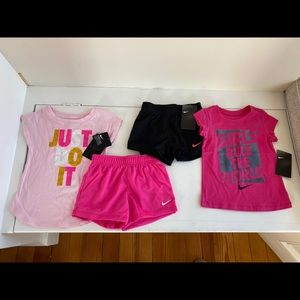 Nike Girls lot of shirts & shorts outfits size 3t